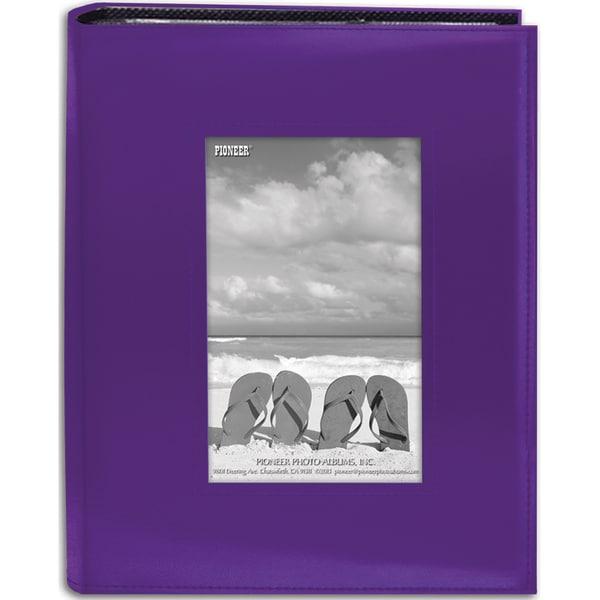 Sewn Frame Photo Album 7inX9in 200 PocketsBright Purple