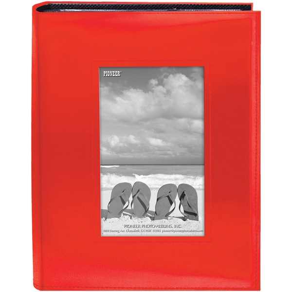 Sewn Frame Photo Album 7inX9in 200 PocketsBright Orange