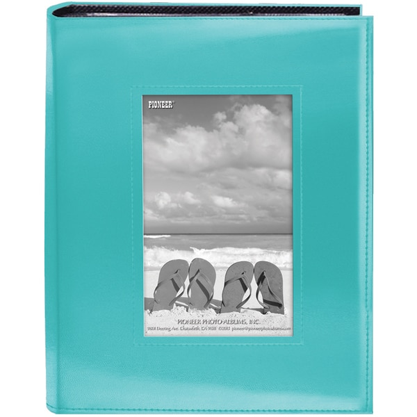Sewn Frame Photo Album 7inX9in 200 PocketsBright Blue