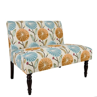 angelo:HOME Bradstreet Water Blue Lilly Armless Settee