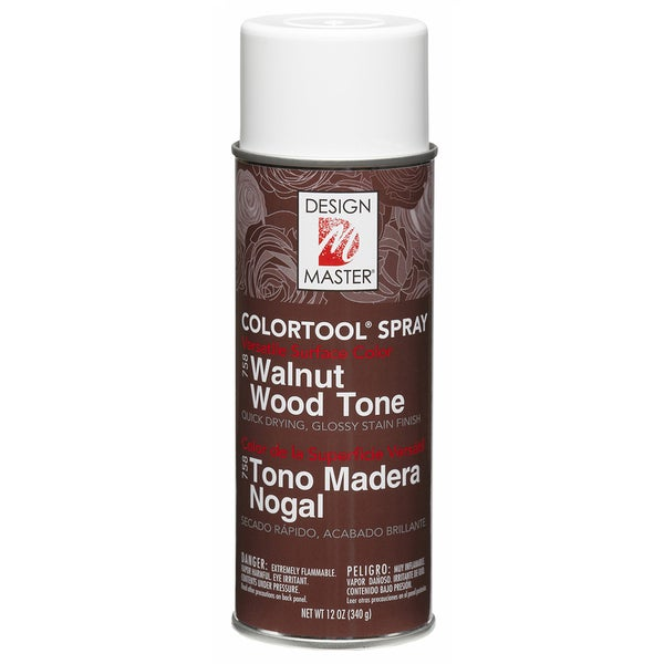 Glossy Stain Aerosol Spray 12ozWalnut Wood Tone