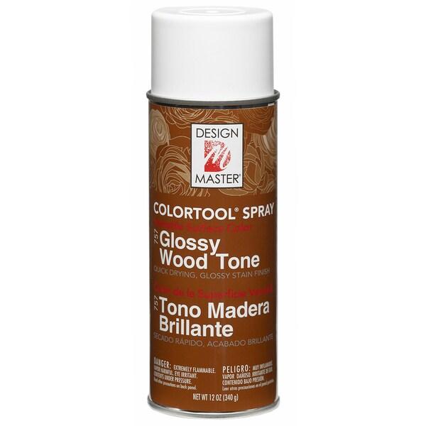 Glossy Stain Aerosol Spray 12ozGlossy Wood Tone