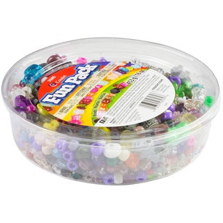 Mixed Plastic Beads Fun Pack 16ozAssorted Shapes & Sizes