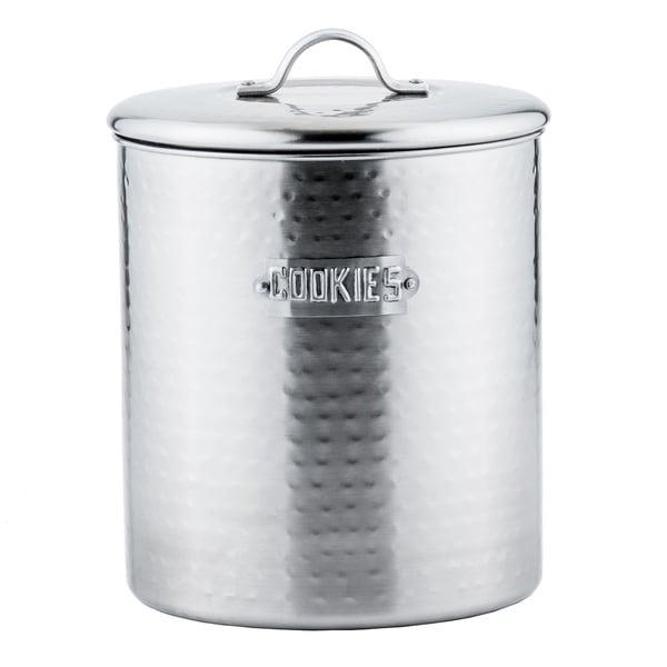 Hammered Brushed Nickel 4-quart Cookie Jar