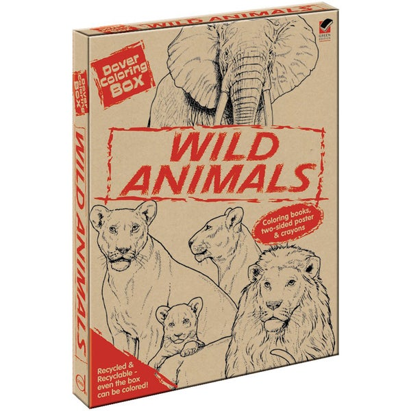 Dover Coloring Box KitWild Animals