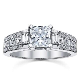 18k White Gold Radiant Engagement Ring 1 1/6ct TDW