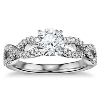 14k White Gold 1/2ct TDW Infinity Diamond Engagement Ring