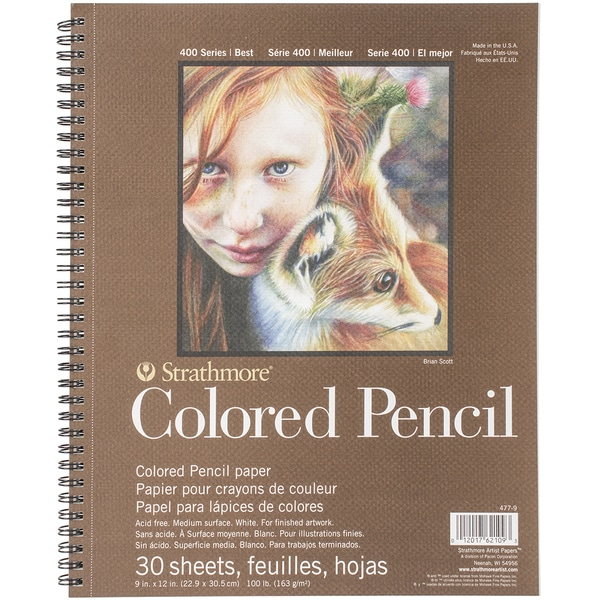 Strathmore Colored Pencil Spiral Paper Pad 9inX12in30 Sheets