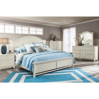 Panama Jack Colors Arch Panel Queen Bed and 6-Drawer Dresser with Mirror, 2-Drawer Nightstand and 5-Drawer Chest