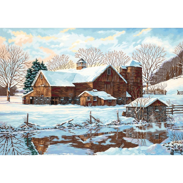 Paint Works Paint By Number Kit 20inX14inWinter Reflections