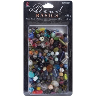 Jewelry Basics Glass Beads 16ozMulti