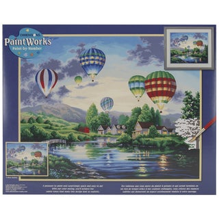 Paint Works Paint By Number Kit 20inX16inBalloon Glow By Nicky Boehme