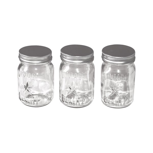 IdeaOlogy Mini Mason Jars 3/Pkg4inX2.25in