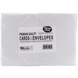 Leader A7 Greeting Cards & Envelopes (5.25inX7.25in) 50/PkgWhite