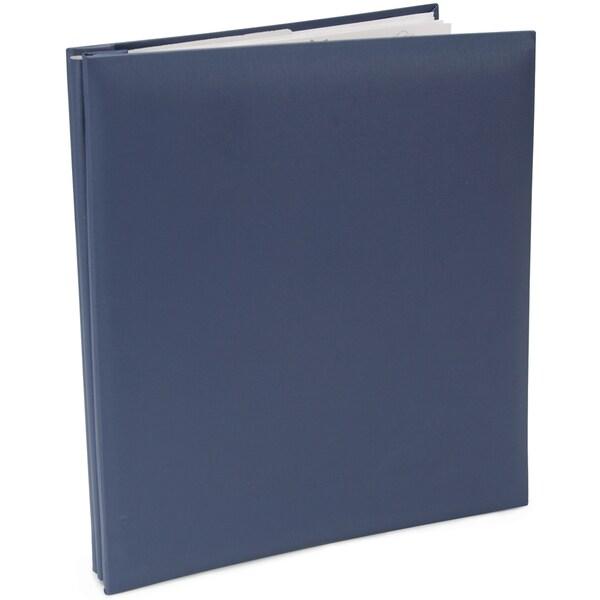 Leatherette Post Bound Album 8.5inX11inBay Blue