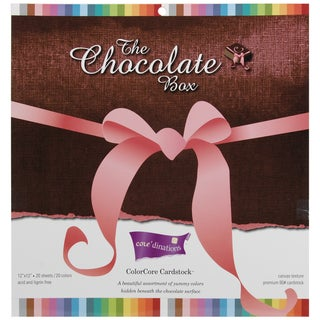 Core'dinations Chocolate Box Cardstock Pad 12inX12in 20/Pkg