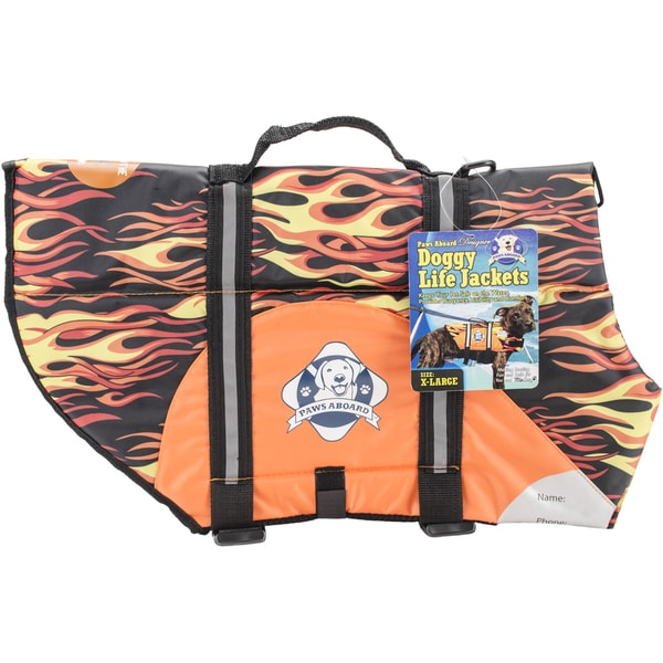 Paws Aboard Doggy Life Jacket Extra LargeRacing Flames