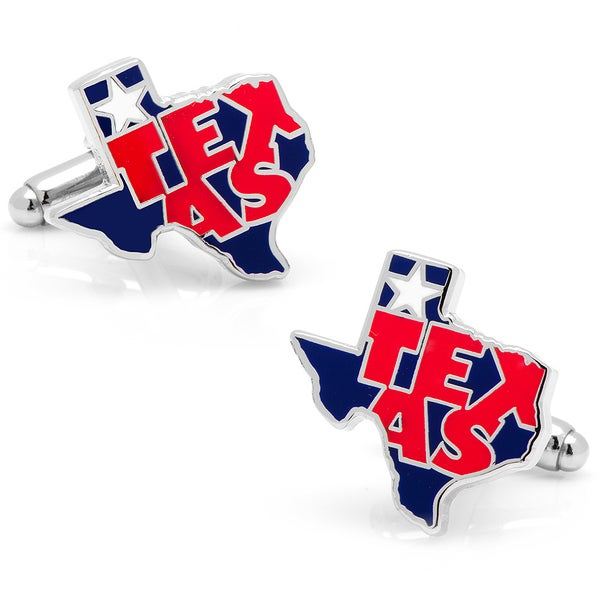 Silvertone State of Texas Cufflinks