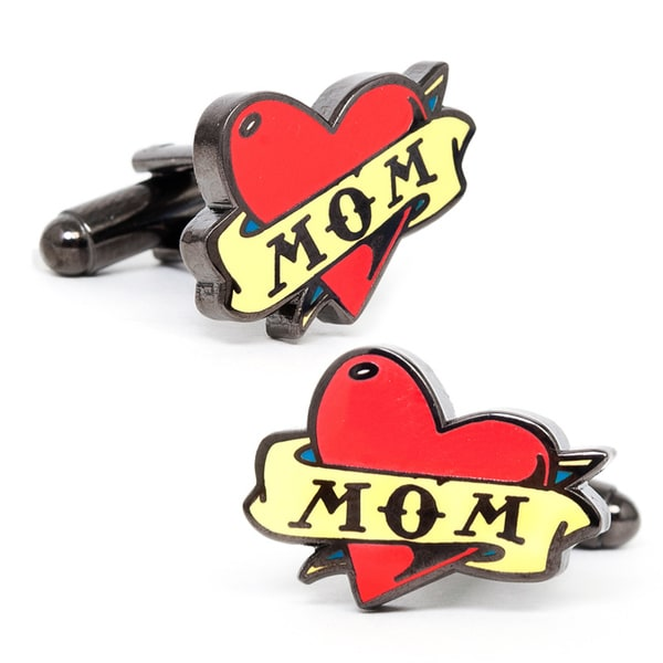 Black Metal Mom Tattoo Cufflinks