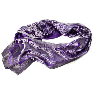 Trovati Women's Purple Arabesque Scarf