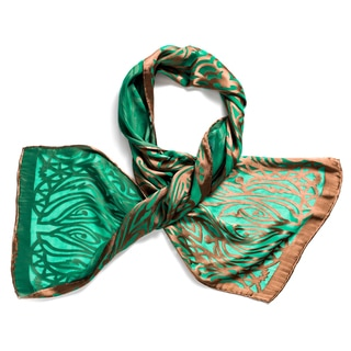 Trovati Women's Emerald Art Deco Scarf