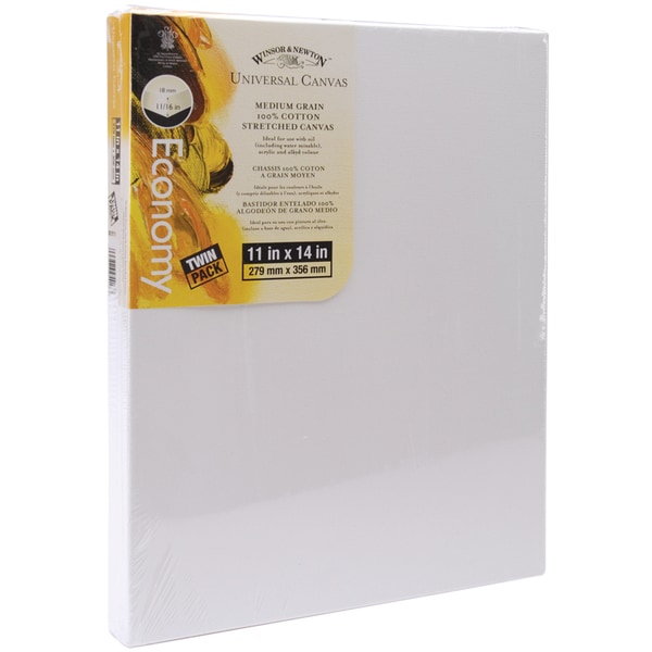 Universal Stretched Canvas Twin Pack 2/Pkg11inX14in