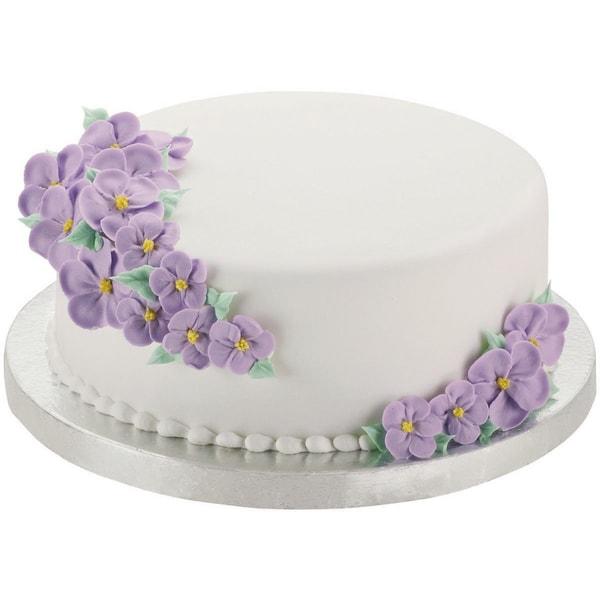 Cake Base16in Silver Round 2/Pkg