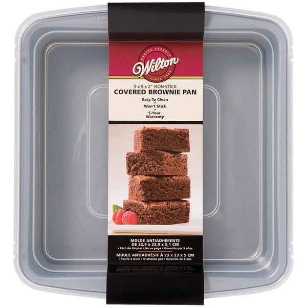 Recipe Right Covered Brownie Pan9inX9in