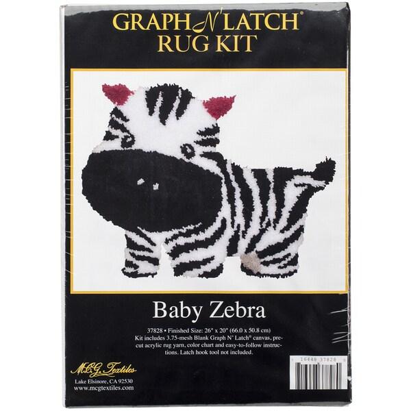 Latch Hook Kit 26inX20inBaby Zebra 16216836