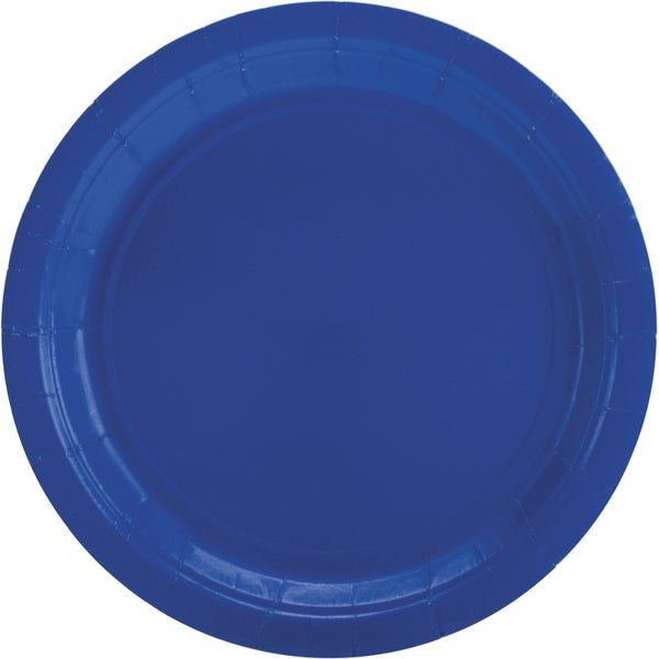 Big Party Pack Luncheon Plates 7in 50/PkgBright Royal Blue
