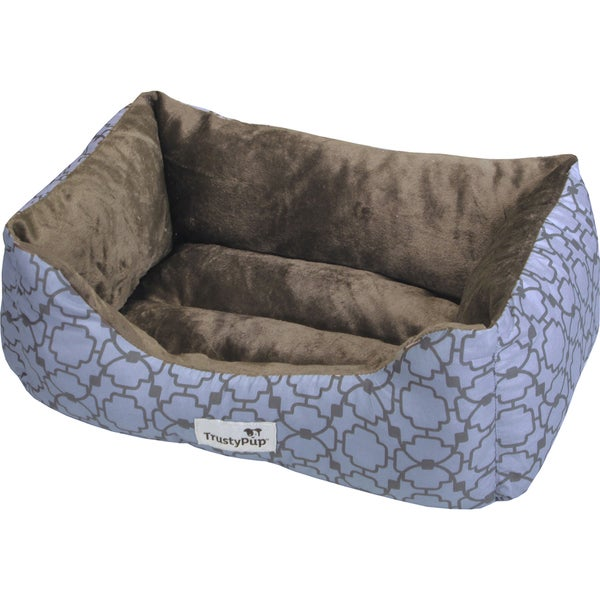 TrustyPup Cuddle Couch Pet Bed 15inX9inX7in Grated Lattice Ocean