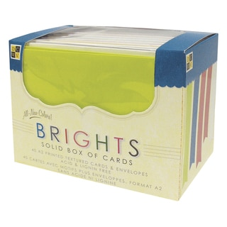 DCWV Box Of A2 Cards & Envelopes (4.375inX5.625in)Bright Solids 40/Pkg