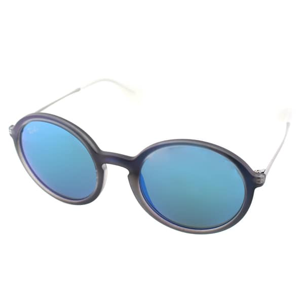Ray Ban Unisex RB 4222 6170/55 Blue Rubber Round Sunglasses 16216937