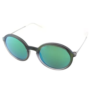 Ray Ban Unisex RB 4222 6169/3R Green Rubber Round Sunglasses