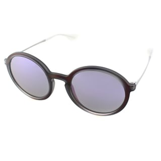 Ray Ban Unisex RB 4222 6168/4V Violet Rubber Round Sunglasses