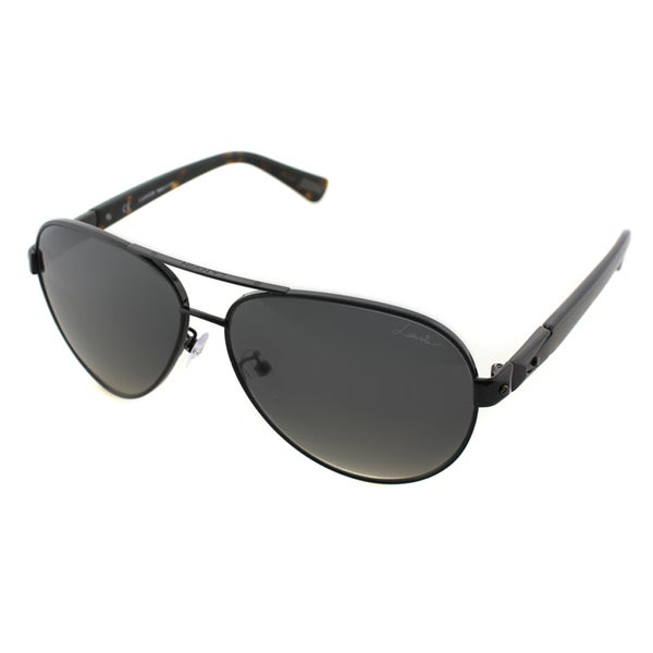 Lanvin Unisex SLN 047 0K05 Shiny Black Metal Aviator Sunglasses