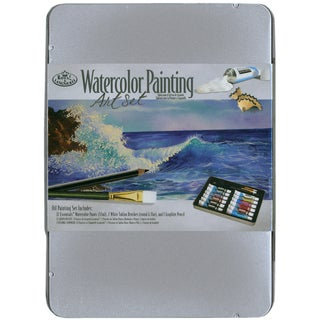 Watercolor Painting Art Set W/Tin
