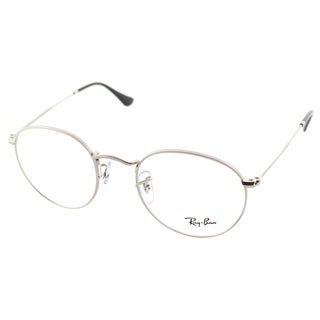 Ray Ban Unisex RX 3447V 2538 50mm Matte Silver Round Metal Eyeglasses
