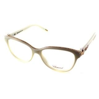 Chopard Women's VCH 141S 03GF Ivory/ 23kt Gold With Stones Cat Eye Eyeglasses