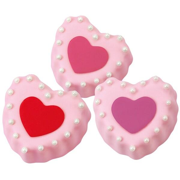 Mini Heart Cake Pan6 Cavity 10.5inX7.25in