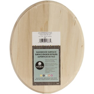Basswood Oval Plaque8inX10inX.75in