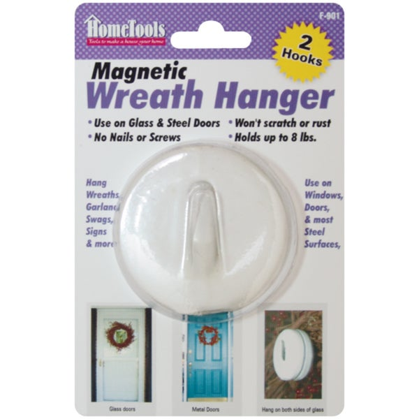 Magnetic Wreath Hanger 2.5inWhite