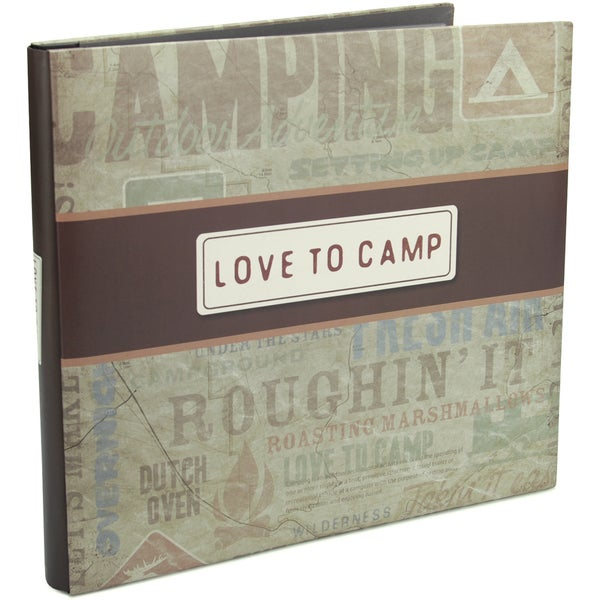 I Love To Camp Post Bound Album 12inX12in