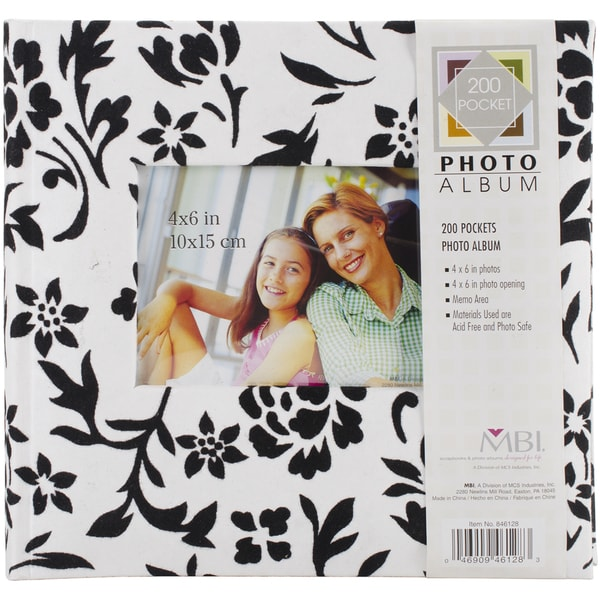 Flocked Photo Album 10inX9.5in 200 Pockets