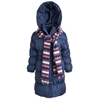 Sportoli Big Girls Down Alternative Hooded Warm Long Puffer Coat