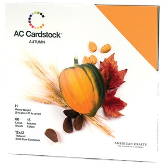 American Crafts Seasonal Cardstock Pack 12inX12in 60/PkgAutumn