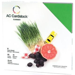 American Crafts Seasonal Cardstock Pack 12inX12in 60/PkgSummer