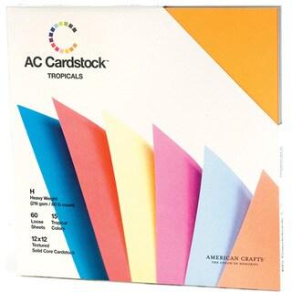 American Crafts Seasonal Cardstock Pack 12inX12in 60/PkgTropicals