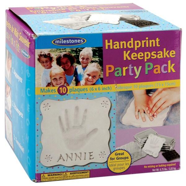 Handprint Keepsake Party Pack 10/Pkg
