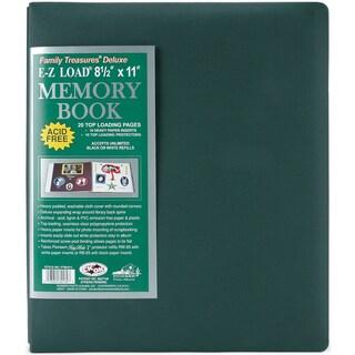 Family Treasures Deluxe Fabric Post Bound Album 8.5inX11inSherwood Green